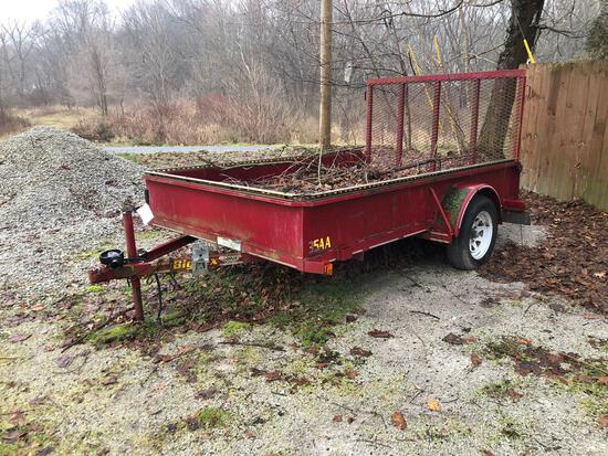 Big Tex 35AA utility trailer with ramp, approx. 77in x 10ft