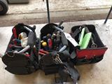 (3) tool bags w/ tools