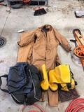 Walls bibs, rubber boots, rain gear