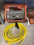 Ridgid compressor with yellow hose