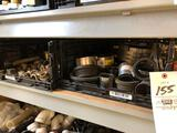 Hose clamps, brass fittings, water closets, hw