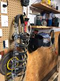 Cable puller, propane heater, tire tracks