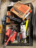 Staplers, nails, staples, solder kit