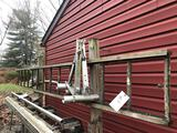 Alumn. ladder, ladder stabilizers