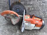 Stihl TS400 chop saw with extra blade