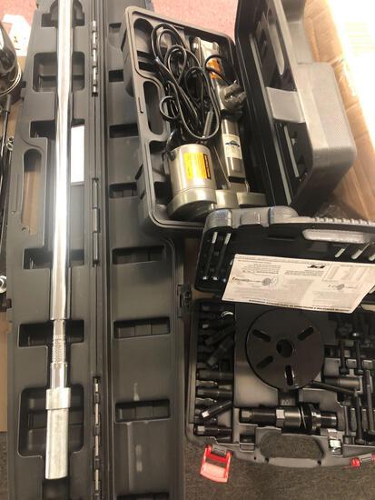 Torque wrench, electric jack, balancer puller
