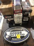 Dodge sign, piston rings and bearings