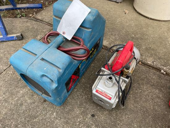 Recovery unit and Robin air Vacumaster pump