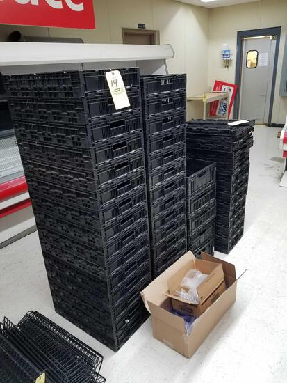 Knock down plastic crates, approx. 35