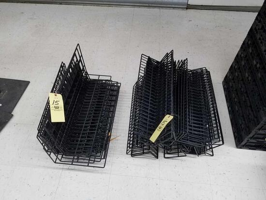 Metal wire display racking, 2ft long