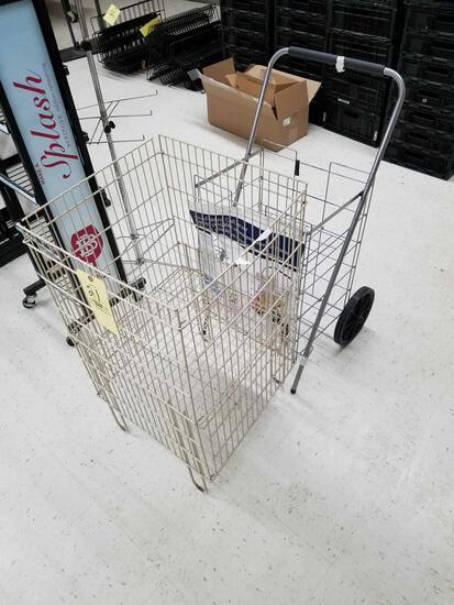 Wire product bin and grocery cart