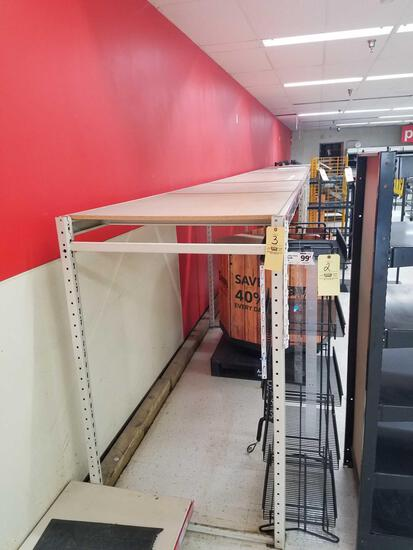 32 ft of product shelving, 5 sections