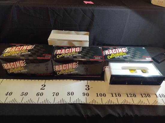 3 NHRA Winston Drag Racing Collectibles 1:24 Scale Funny Car Diecast Cars w/ Display Case