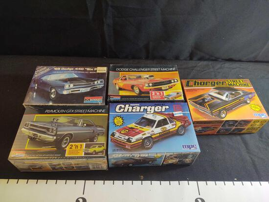 5 Sealed Model Car Kits