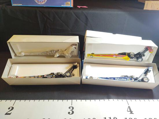 4 Action Platinum & Mac 1:24 Scale Top Dragsters