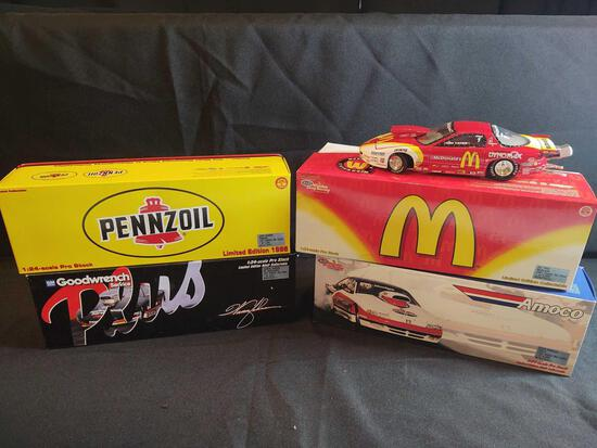 4 1:24 Scale Pro Stock Diecast Cars