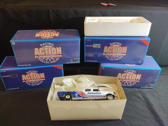 4 Winston Cup Action Racing Platinum Diecast 1:24 Scale Banks