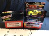 5 1:24 Scale Die Cast Stock Cars