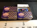 3 NASCAR Action Racing Platinum Series 1:24 Scale Diecast Stock Cars
