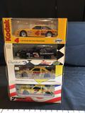 4 Assorted 1:24 Die cast Stock Cars