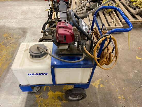 Honda powered Dramm sprayer