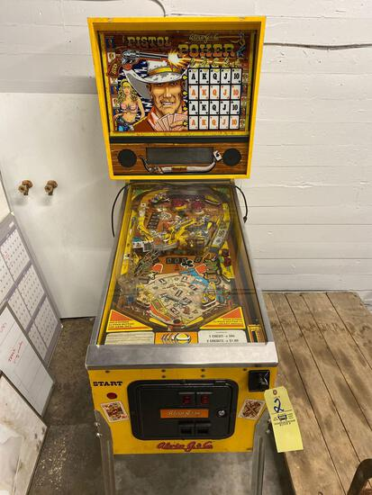 Alvin G. & Co. Pistol Poker pinball machine