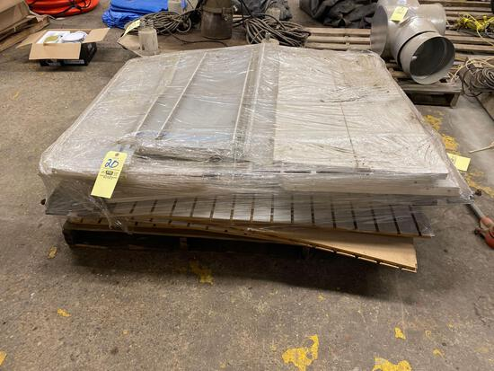 Pallet of shelving and slat boards
