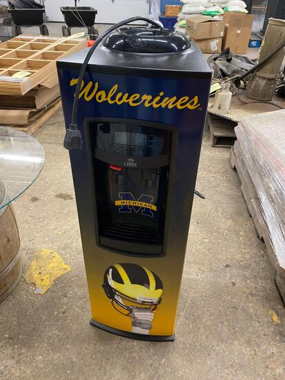 Michigan Wolverines water cooler