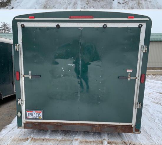 2010 Atlas Cargo Trailer 8x16 ramp door.
