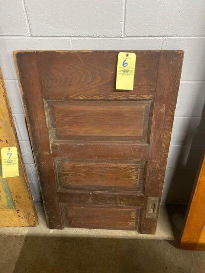 Early wood door half