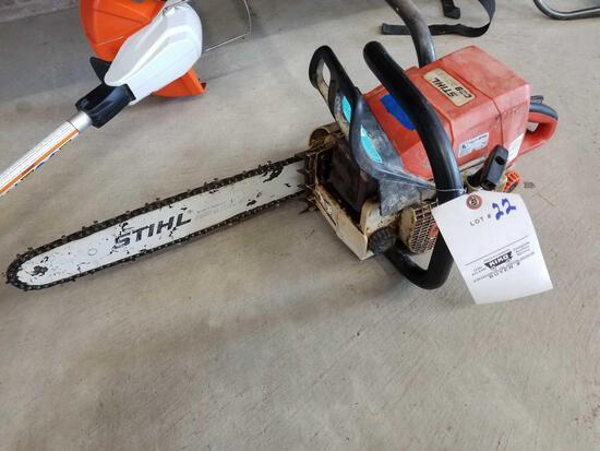 Stihl 029super chainsaw, runs