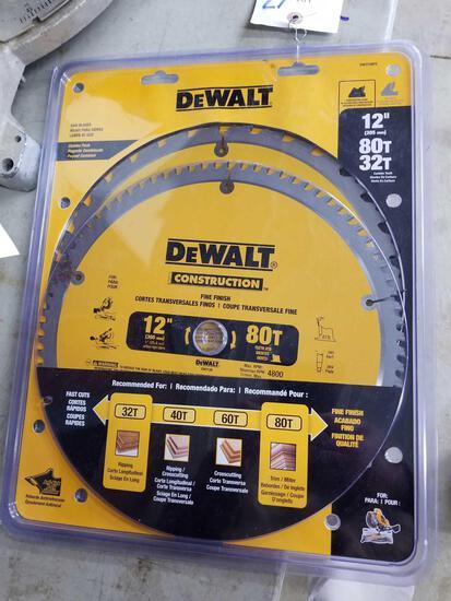 Set new DeWalt blades, 12in