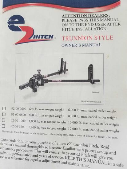 E Z Hitch trunnion style with sway bars