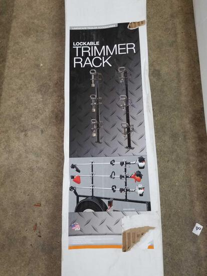 New lockable trimmer rack