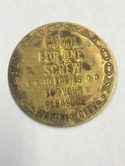 Vintage brothel token, Virginia City, Red Dog Saloon