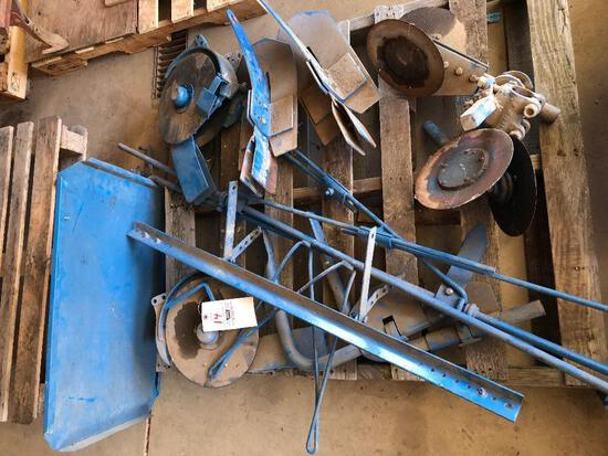 Pallet of Ford 309 planter parts