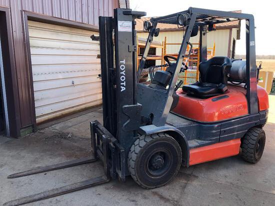 '95 Toyota Forklift, Mod 42-6FGu25, 4,900 lb.