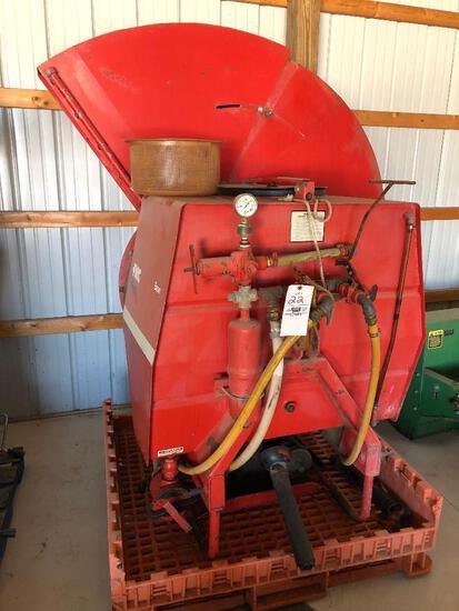 FMC Bean mod. 1229 TM 3pt airblast orchard sprayer w/ stainless steel tank