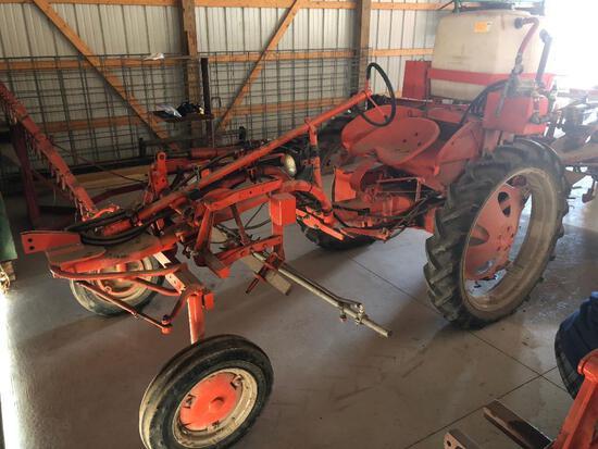 "Allis Chalmers ""G"" Tractor w/ 30-gal. sprayer"