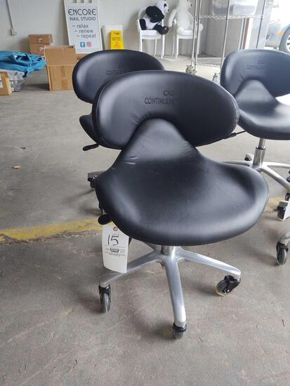 2 Continuum Rolling Pedicure Technician Chairs