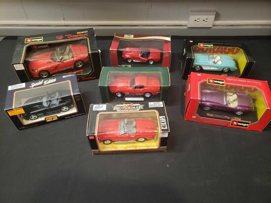 Diecast cars (Revell, Burago)