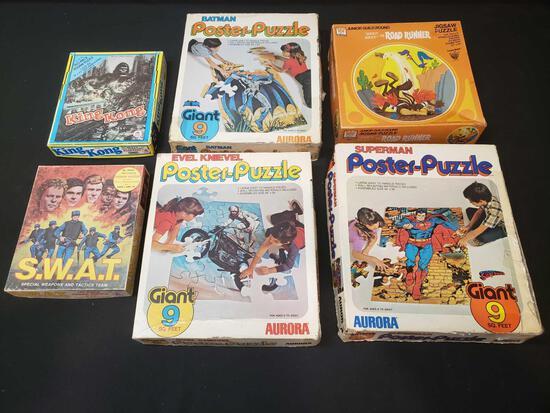 Poster Puzzles, Batman, Superman, Evel Knievel, King Kong