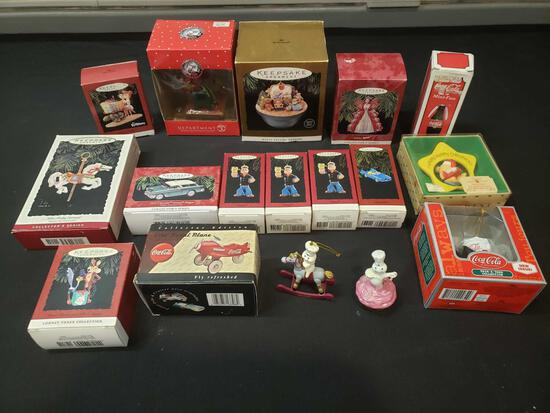 Hallmark Keepsake ornaments and Department 56