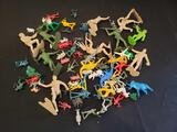 Plastic playset figures