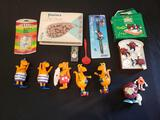 Advertising Toys KGF toys, dinosaurs, California raisins