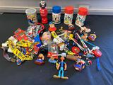 Popeye the Sailor Man thermoses, ties, plastic figurines