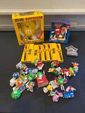 M&M, wrist watches, Dispensers, frame, figures