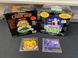 Halloween electronic candy dish, Monster Mash, and 2 CDs of scary sounds