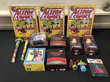 Marvel and DC, Super Tin Comic Signs, Fallout Nuka Cola Figure, Avengers Lootcrates