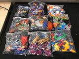Assorted Marvel and DC Action Figures, Spiderman, Batman, Hulk